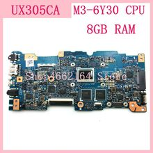 UX305CA mainboard M3 6Y30 מעבד 8GB RAM REV 2.0 עבור ASUS UX305C UX305CA Zenbook האם 90NB0AA0 R00040 נבדק בסדר