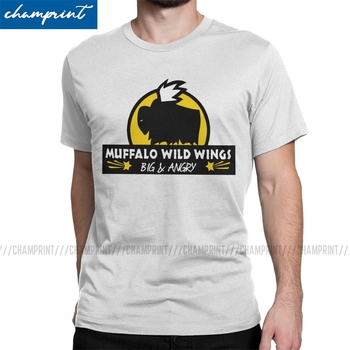 Muffalo Wild Wings T-Shirts for Men Rimworld Rim World Meme Game Humorous Cotton Tee Shirt O Neck T Shirts New Arrival Clothes - discount item  40% OFF Tops & Tees