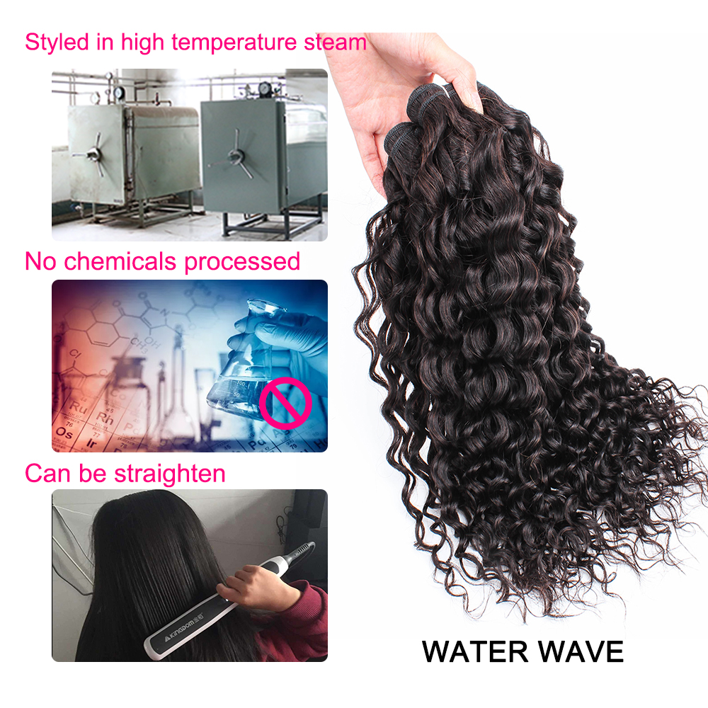 Kisshair cor natural onda de água pacotes