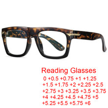 Gafas de lectura de diseño cuadrado Retro, lentes de lectura con bloqueo de luz azul, lente clara de anteojos, gafas de prescripción, dioptrías de 0 a + 2021, 6,0
