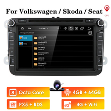 HIZPO 2din Android 10,0 Octa Core 4GB RAM Auto DVD für VW Passat CC Polo GOLF 5 6 Touran EOS T5 Sharan Jetta Tiguan GPS Radio bt