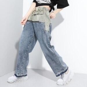 Pantalones rectos para mujer, pantalones vaqueros negros y azules con cremallera de verano 2020, pantalones vaqueros rasgados con Push Up y cintura elástica para mujer, pantalones vaqueros de tendencia para mujer Z2