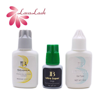 3 Bottles Origianl Korea IB Glue Ultra Super Glue Lash Primer Lash Remover Set For Eyelash Extension Fastest Atrongest Wholesale 1