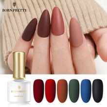 Lahir Cantik Gel Nail Polish Matte Series Rendam Off UV LED Gel Warna-warni Warna Kuku Gel Varnish Perlu Matte Top mantel 6 Ml(China)