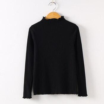 2019 Long Sleeve Shirt Mesh Top Poleras De Mujer Moda Women Shirt Women Cotton T-shirt Women Tops Casual Tee T Shirt 6268 50 - Black, S