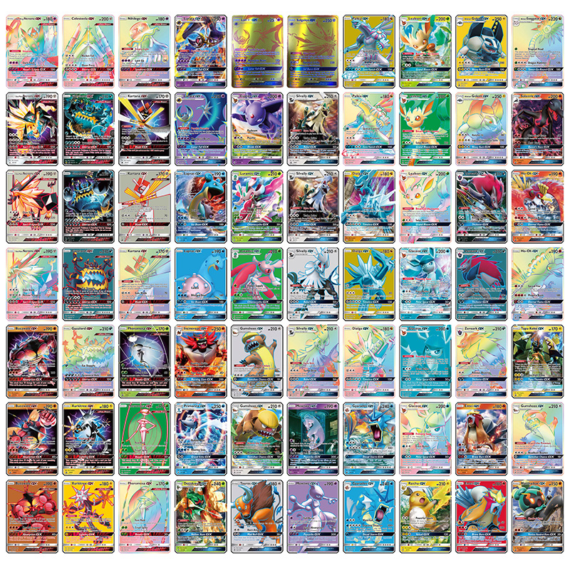 300 Pcs Anime Shining Cards Pokemons Cartes Mega GX 20 60 100pcs Battle Carte Mewtwo Trading Cards TAKARA TOMY Toys Album Book