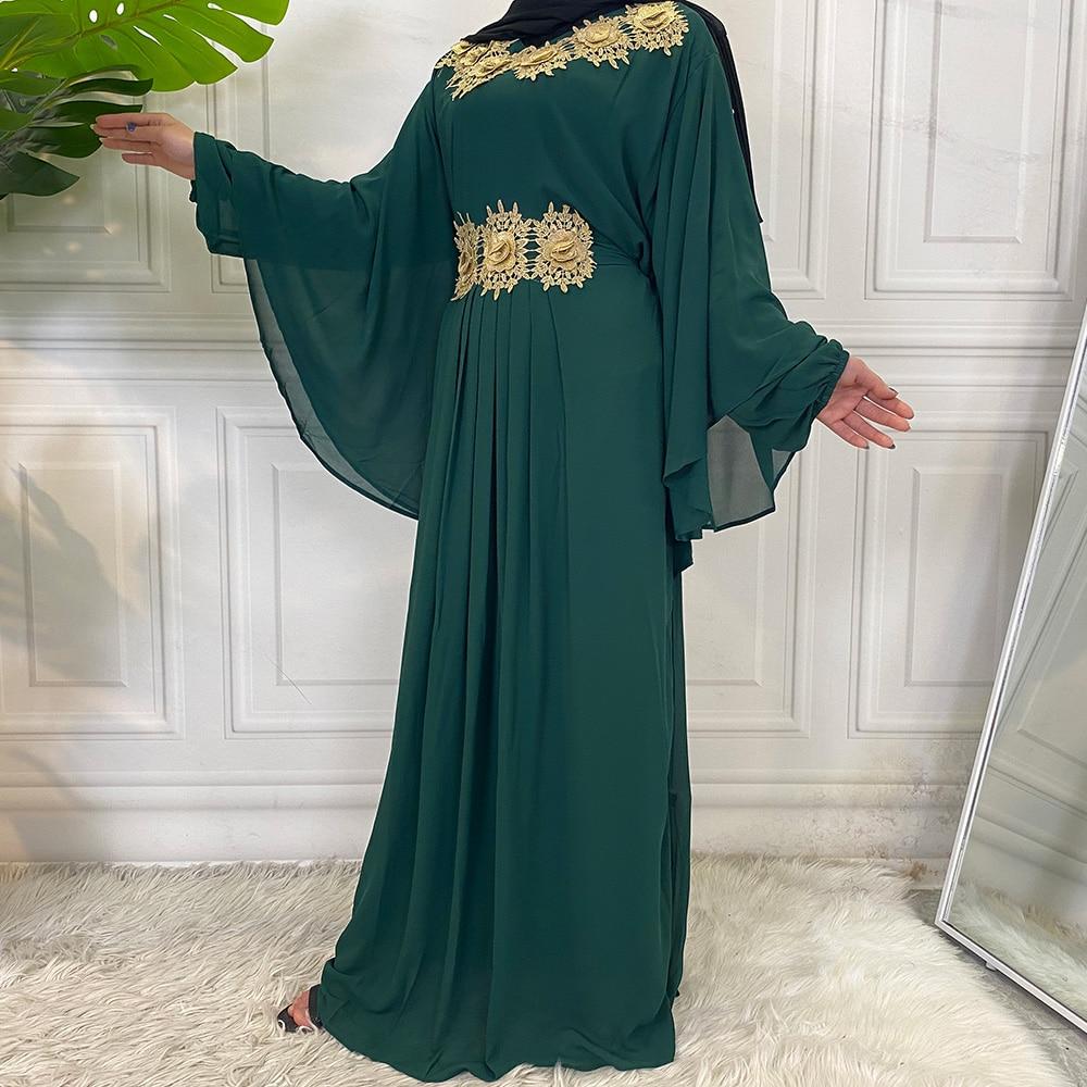 Middle East Fashion Dubai Abaya Muslim For Women Hijab Dress Caftan Turkey Kaftan Ramadan Arabic Islamic Clothing Modest Robe 5