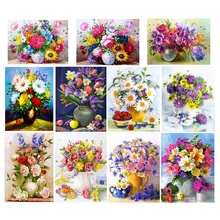 Oil Painting Diamant Painting Flower Diamond Painting 5D Cross-Stitch Diamond Painting Full Round sunflower diamond paiting flower diamond painting full cross stitch diamond painting full drill round