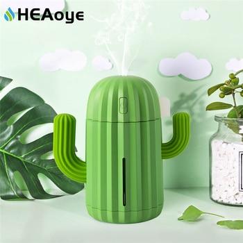 Humidificador de aire de Cactus USB de 340ML, difusor de aromaterapia, nebulizador, Mini atomizador de Aroma, difusor de aceite esencial de coche