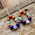 Новые серьги-подвески с искусственными камнями 7 цветов, подарки для девушек, изысканные женские элегантные серьги, ювелирные изделия, Прям...