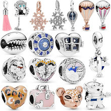2020 New Original Free Lion Princess Toy Story Alien Woody Pendant Diy Bead Fit Original Pandora Charms Bracelet Gift Jewelry(China)