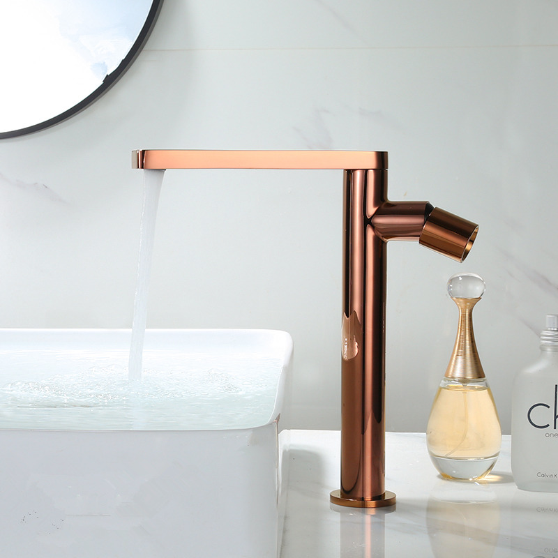 Basin Faucet Rose Gold  Bathroom Faucet Gold Basin Mixer Tap Hot & Cold Water Faucet Brass Sink Water Crane New Arrivals