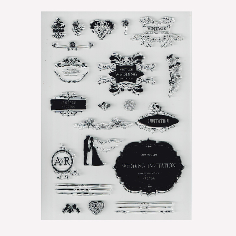 Us 4 59 8 Off Vintage Wedding Stamps Clear Crafting Stamp Wedding Invitation Card Making Stamps In Stamps From Home Garden On Aliexpress