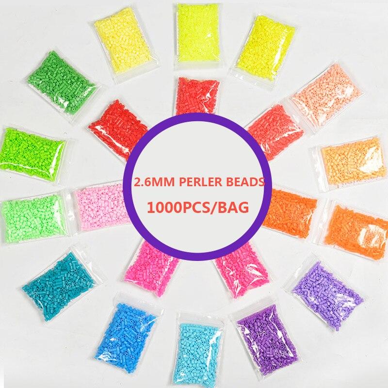 1000 PCS/ Bag 2.6mm Hama Beads 26 Colors Kids Education Diy Toys 100% Quality Guarantee New Diy Toy Fuse Beads