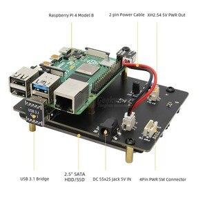 Image 2 - Placa de expansão de armazenamento raspberry pi 4 modelo b, 2.5 polegadas sata hdd/ssd x825 usb3.1 módulo de disco rígido módulo para raspberry pi 4b