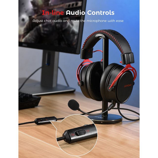 Air SE Gaming Headset Wired Surround Sound Gaming Headphones with Noise Cancelling Mic In-Line Control for PC 5
