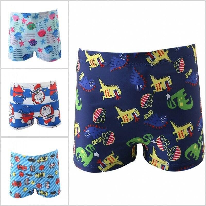 Baby Boys Kids Cartoon Print Stretch Beachwear Swimsuits Swimwear Pants Shorts