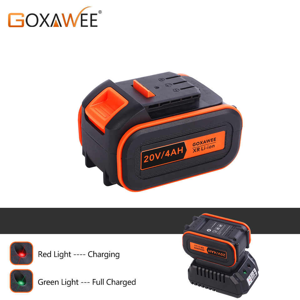 GOXAWEE Electric Wrench Battery 4000mAh Fast Charging Lithium Battery For 20V Cordless Impact Wrench Power Tools Accessories