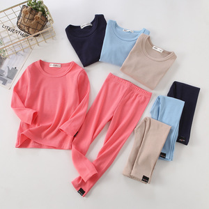 Image 5 - New Ribbed Fitted Pajamas For Baby Girl Pajamas Kids Boy Children Clothes Autumn Winter Toddler Set Soft Comfortable Long Sleeve