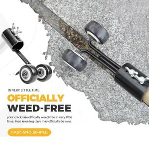 Desbrozadora de malas hierbas con rueda, herramienta para quitar malas hierbas, herramienta de jardinería, deshierbe, recortadora de césped, para jardín, Onkruid Verwijderen