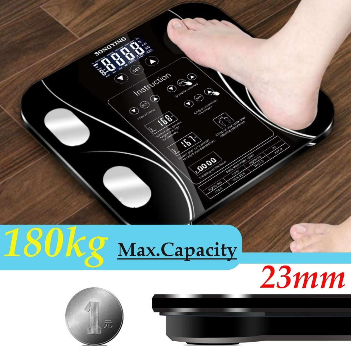 Weighing-Scale Body-Composition-Analyzer Body-Fat-Scale Digital Bathroom Smart Household