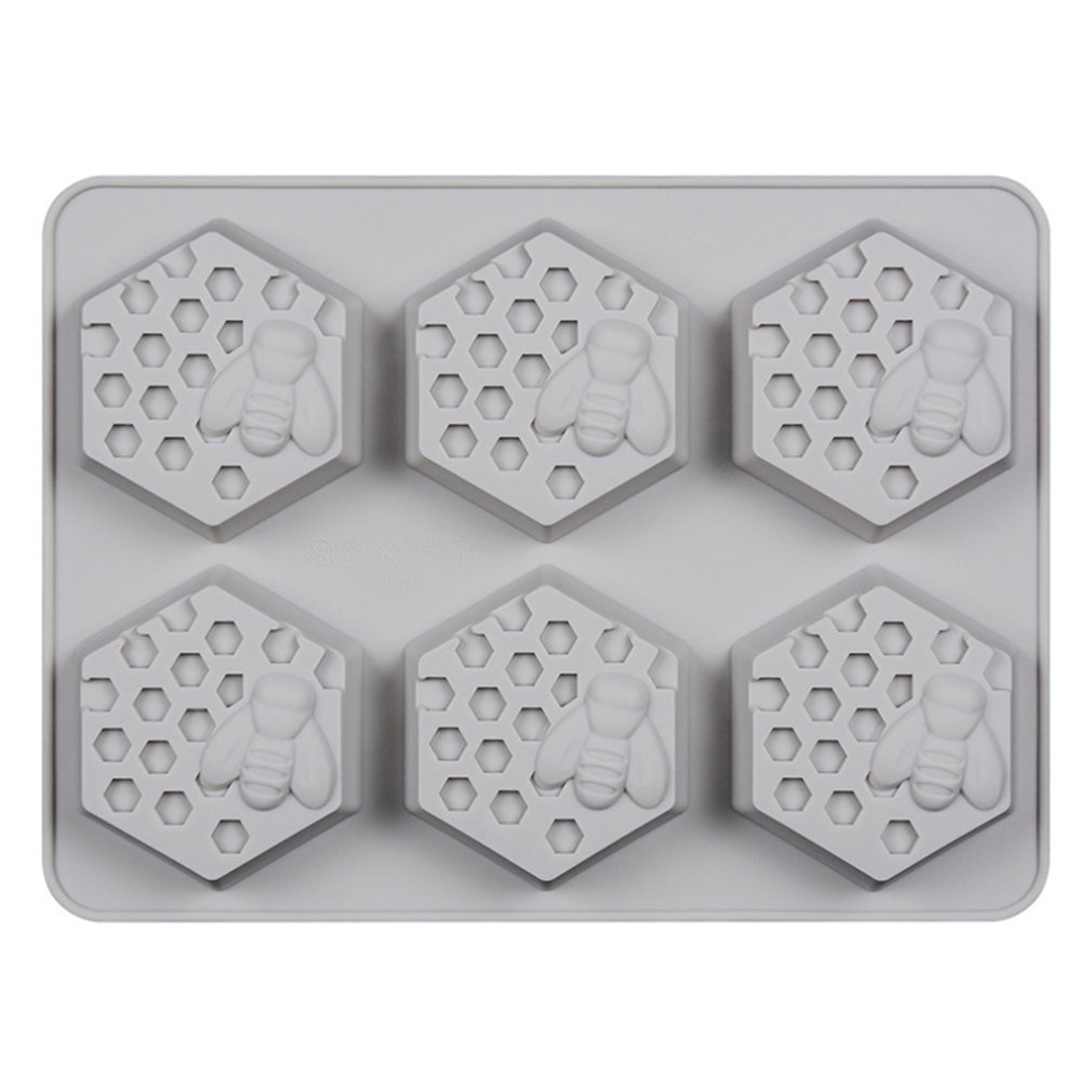 6 Holes Non-Toxic Soft DIY Silicone Soap Mold For Handmade Soap Making Forms 3D Mould Soaps Molds Fun Gifts