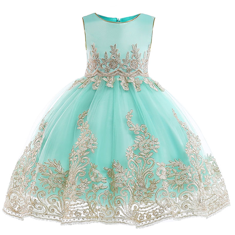 2019 Children party clothing   flower     girl     dresses   for weddings vestidos de primera comunion 2019 baby pageant ball gown costume