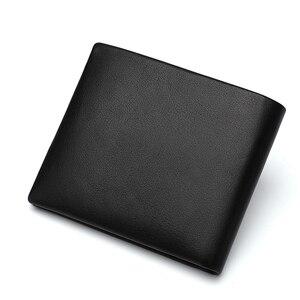 Image 3 - バイソンデニムビジネスカジュアル財布メンズソフト本物の牛革財布ブランドショートカードホルダー財布ファスナーコインケースN4411