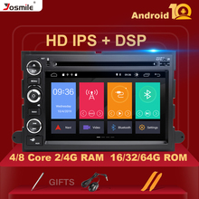 2 din Android 10 Car Radio For Ford Escape Ford F150 F250 Fusion Mustang Expedition Explorer 2005 2007 2008 DVD GPS Navigation