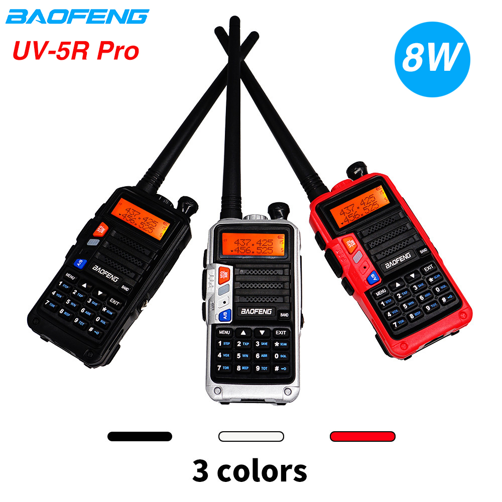 Upgrade Baofeng UV-5R Walkie Talkie UV 5R Pro 8W High Power CB Ham Radio Dual Band VHF UHF Two Way Radio UV-5R 10KM Comunicador
