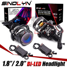 Sinolyn Bi LED Headlight Lens Projector For H1/H4/H7/H11/H13/9004/9005/9006/9007 LED Car Motorcycle Mini 1.8 2.0 inch LED Kit