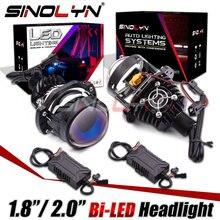 Sinolyn Bi phare LED projecteur de lentille pour H1/H4/H7/H11/H13/9004/9005/9006/9007 LED voiture moto Mini 1.8 2.0 pouces Kit LED