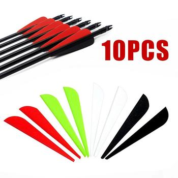 Feathers Wing Shield Hunting Vanes Arrows Feather Plastic 3 7.5CM Sports Archery Professional Fletching Tail Feather Durable image