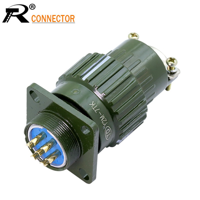 1pc Y2M Series U.S. Military Connector Mil-spec 2 3 4 5 7 10 14 16 PIN Military Connectors Plug Socket
