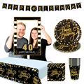 HUIRAN, черные золотые шары, 30, 40, 50 лет, баллоны до 30 лет, 30, 40 лет, день рождения, 50 лет, вечерние, Декор, латексные балоны