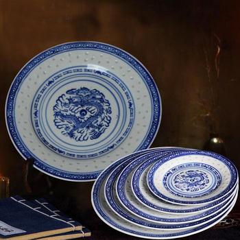 Chińska restauracja niebieski i biały porcelany domu dekoracyjna ceramika dekoracje ścienne mydelniczka ściany wiszące płyta tanie i dobre opinie Wave Risk Europa Ceramiczne i emaliowane Miłość