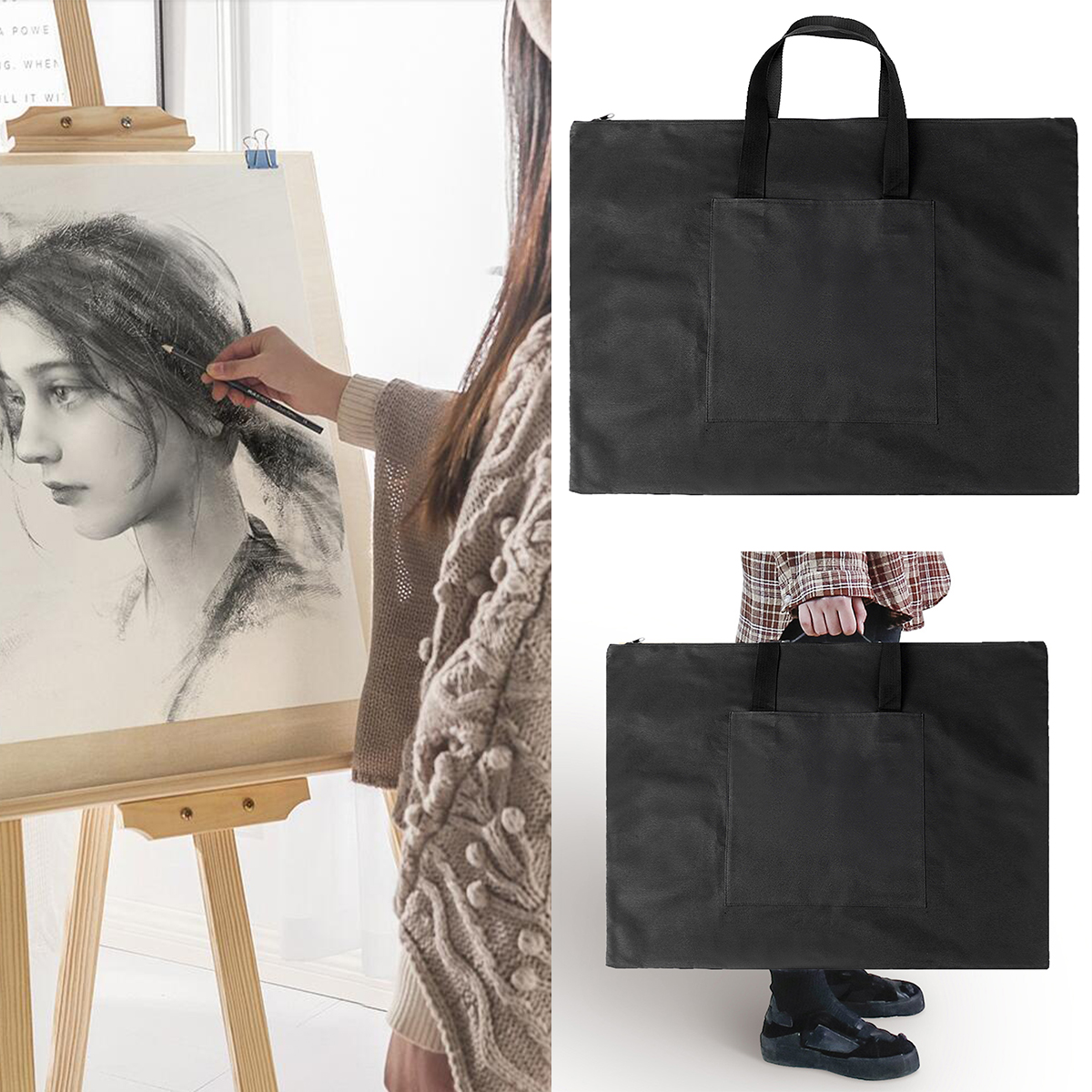 Document Handbag A2 Drawing Painting Board Storage File Bag ​​Drawing Board Bags Adjustable Strap Shoulder Bag Free Shipping