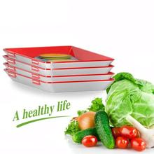 Creative Food Preservation Tray Fresh Keeping Spacer Organizer Preservate Refrigerator Storage Container