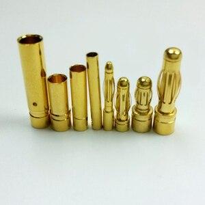 Image 5 - 100 шт. (50 пар) Золотая пуля банановый разъем штекер 2,0 3,5 4,0 5,0 мм для двигателя квадрокоптера ESC Lipo батарея Соединительная деталь