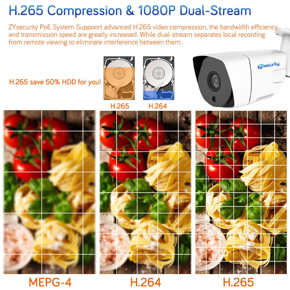 4CH H 265 1080P Full HD PoE NVR Kit 4pcs 2MP 100ft night vision 3 6mm metal Outdoor Bullet PoE IP camera CCTV Security Kit in Surveillance System from Security Protection