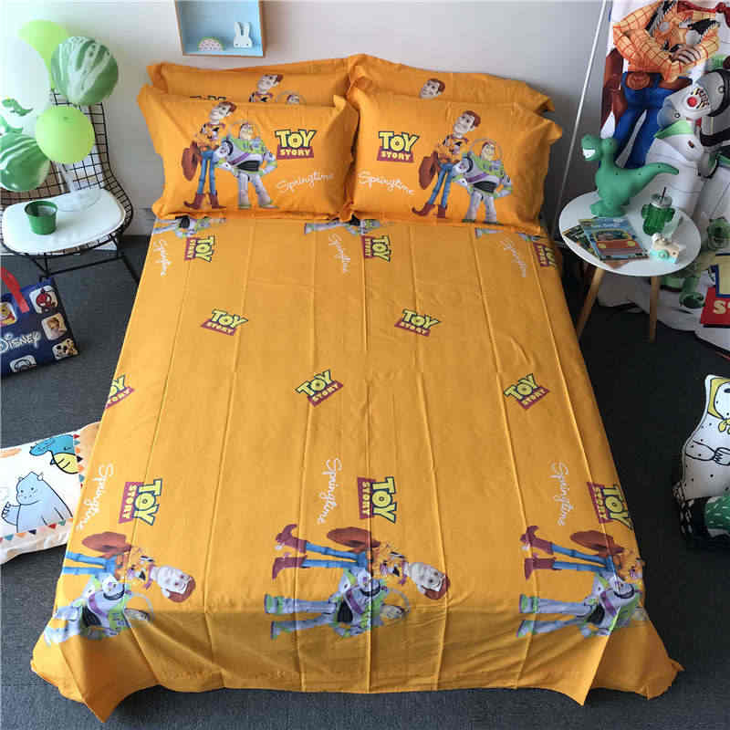 Cartoon Woody Print Beddings Comforter Set 3 4 5pcs Disney Toy Story Bed Linens Boy Children Room Decor 100 Cotton Pillow Cover Bedding Sets Aliexpress