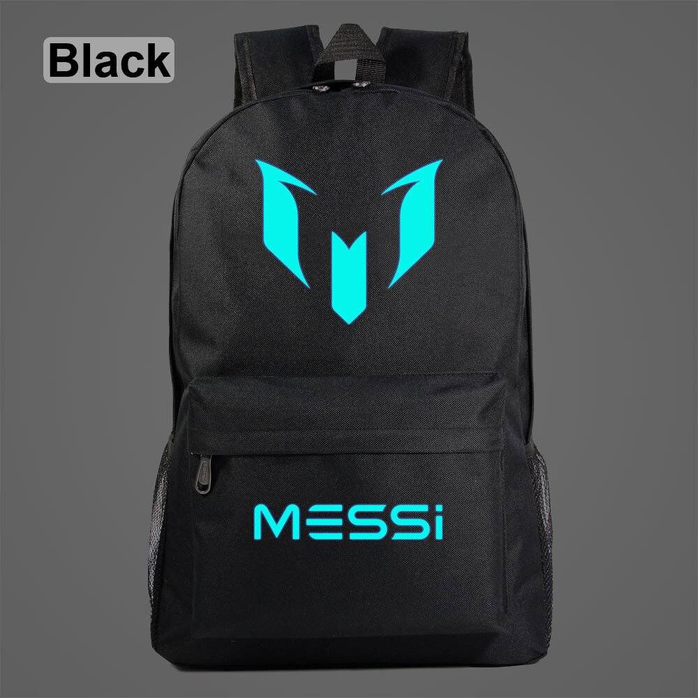 Messi Luminous Backpack Star Galaxy Football Training Shoulder Travel Laptop Bag