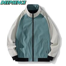 2021 nova primavera outono moda legal jaqueta masculina coreano suporte zíper poliéster simples casual streetwear jaquetas esportivas