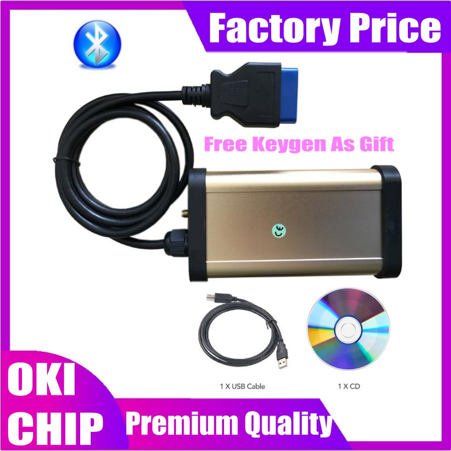 2020 New Gold Shape With OKI CHIP Bluetooth Vd Ds150e Cdp For Vdijk Autocoms Pro Obd2 Obd Cars&trucks Diagnostic Tool Scanner