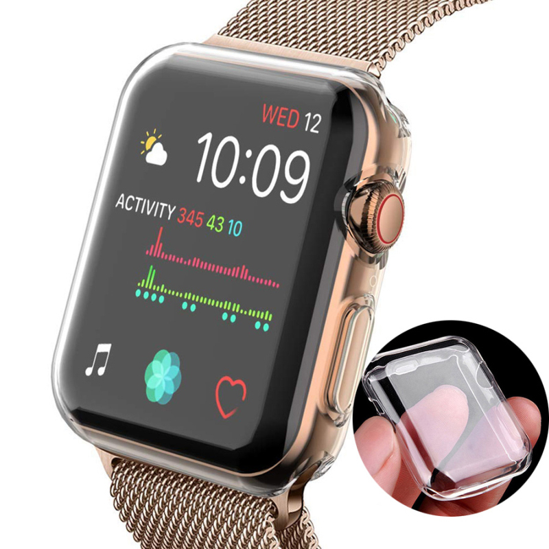 Transparent Cover for Apple watch case 44mm 40mm 42mm 38mm iwatch 5 4 3 2 360 Clear TPU Cover Full Case Apple watch accessories