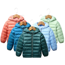 2020 Children winter jacket Ultra light down Baby Girls Jackets Kids Hooded Outerwear Coat boys snowsuit Children Clothing 2-8 y