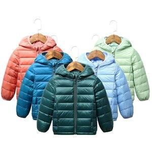 2020 Children winter jacket Ultra light down Baby Girls Jackets Kids Hooded Outerwear Coat boys snowsuit Children Clothing 2-8 y(China)
