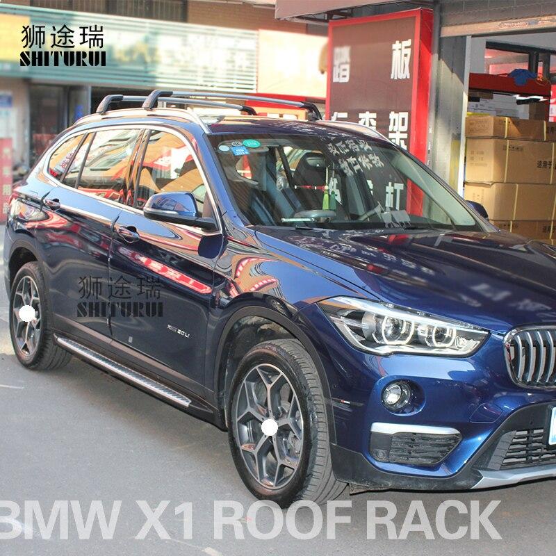 SUV 2009-2015 Grey Roof Rack Cross Bars Flush Rails Lockable for BMW X1 E84