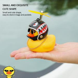 Car Dashboard Decoration car duck With light Propeller Rubber Squeeze Sound Car Decorations Duck car accessories FAST SHIPPING