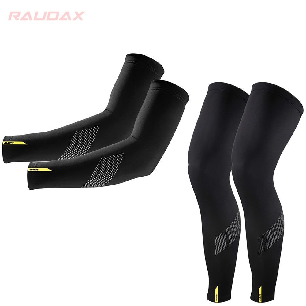 Aquecedores pro equipe mavic perna cósmica preto proteção uv ciclismo braço mais quente respirável corrida de bicicleta mtb perna manga